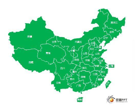 中国行政地图-矢量分块 - ppt图表 - 锐普ppt论坛
