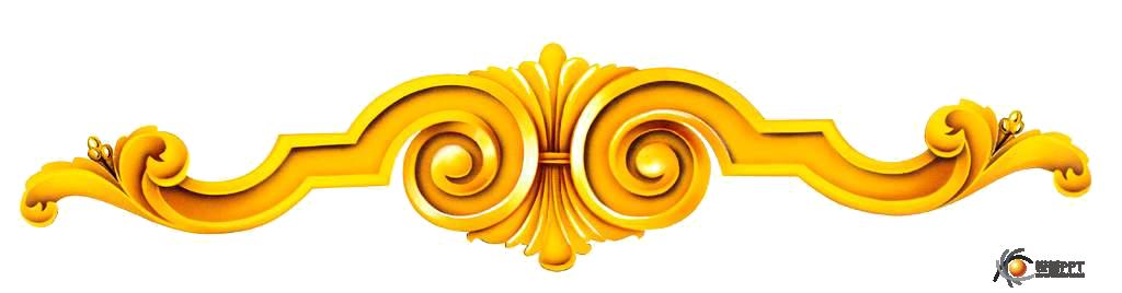 发一组金色的花纹素材