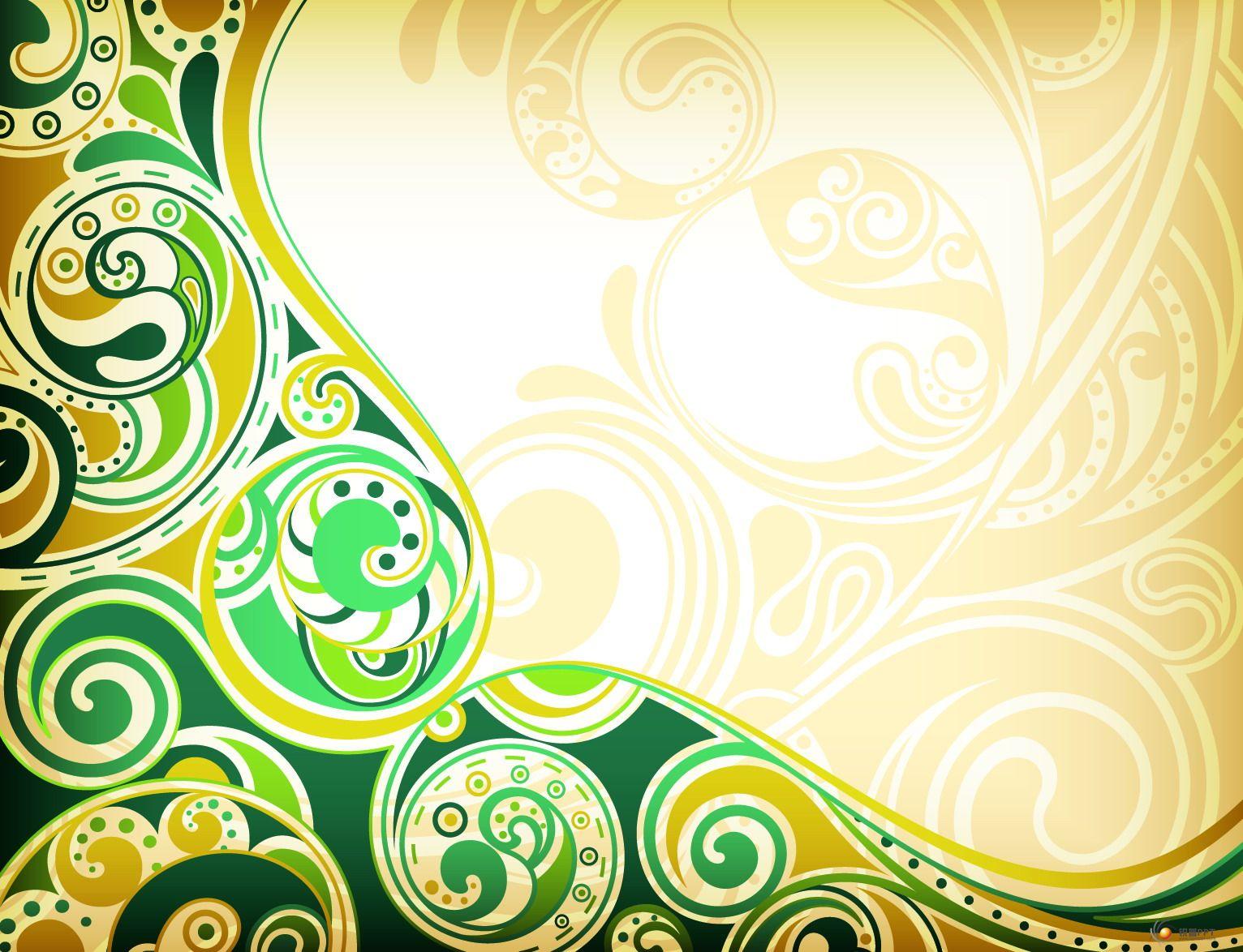 欧式花纹背景(6p) - 图片素材