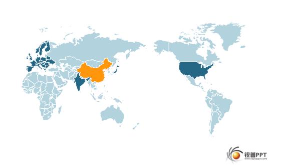 可填充颜色的世界地图