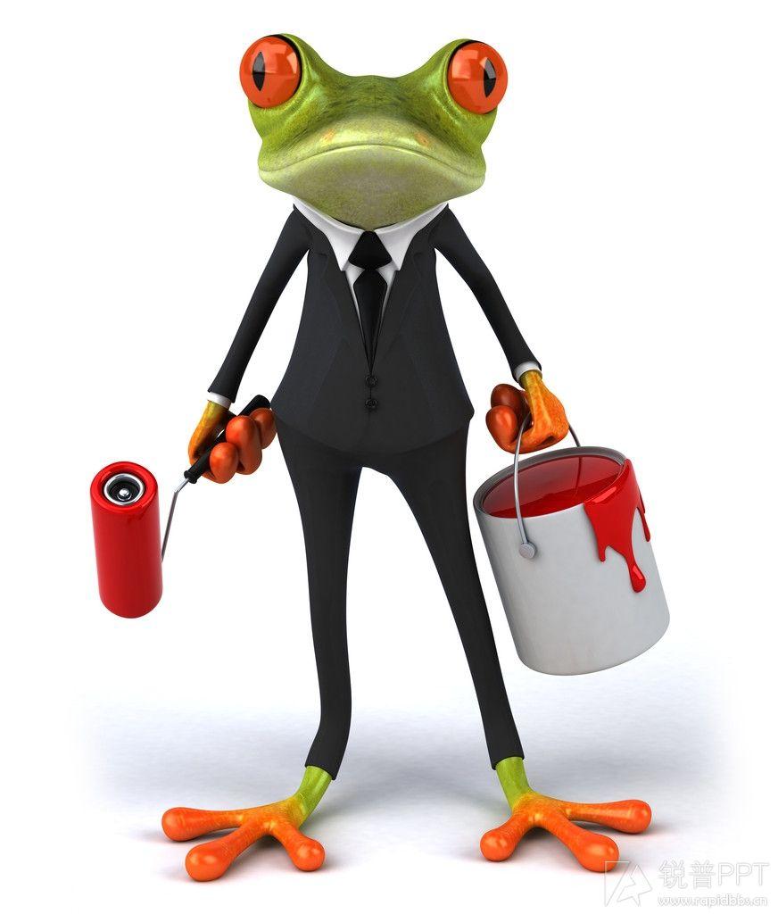 卡通青蛙(9p) - ppt图片