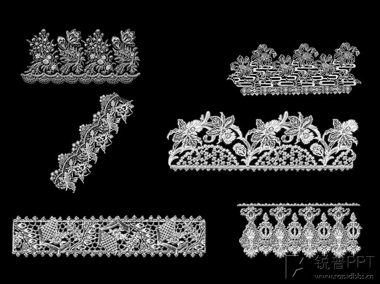 精美蕾丝花纹png图片(76张)