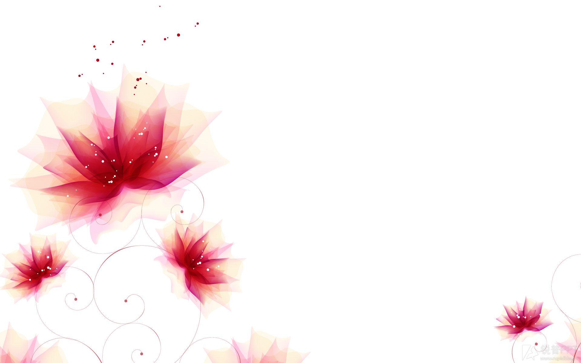 简洁风格的花纹背景图片