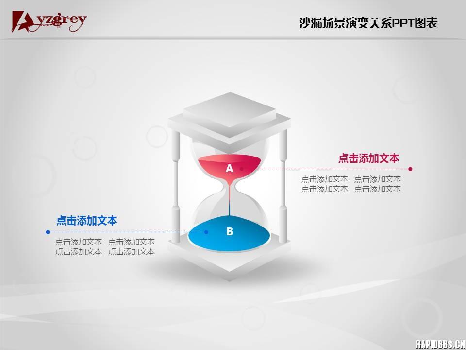 ppt沙漏计时器_彩色精致沙漏场景演变关系PPT图表PPT资源