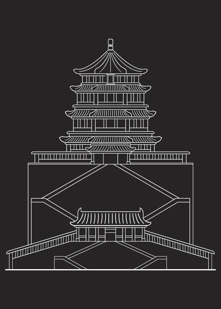 有人做线条动画吗?颐和园的线条矢量图