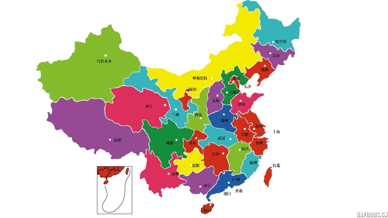 新版中国地图矢量