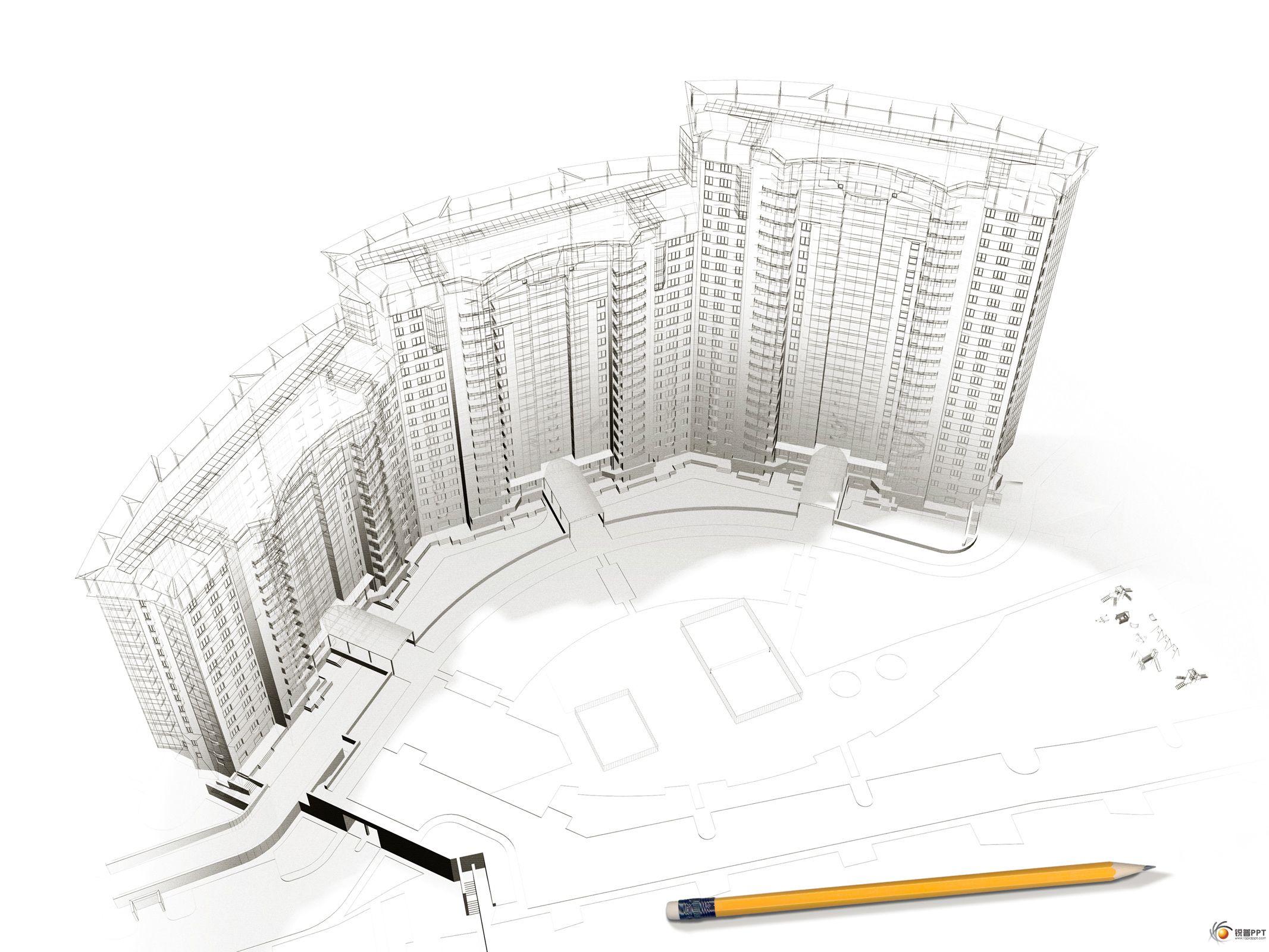 創意建筑手繪設計