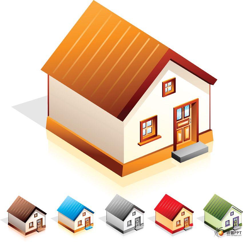 房子设计矢量图【3个】