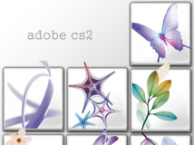 【叶落精選】清新唯美风格adobe cs2 PNG图标